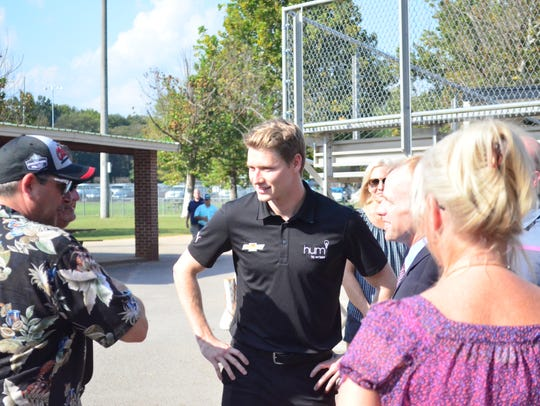 Josef Newgarden comes home to Hendersonville and speaks