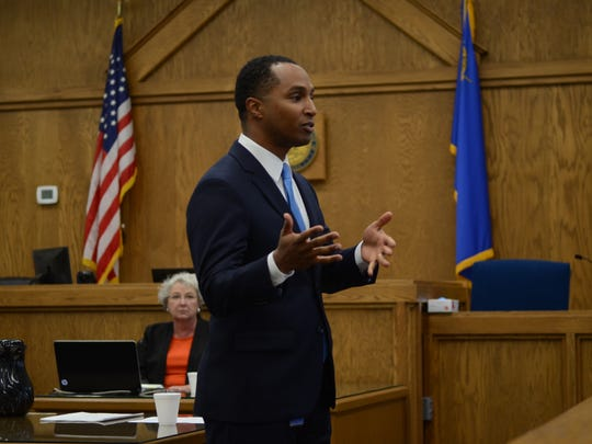 Deputy District Attorney Zelalem Bogale makes his opening