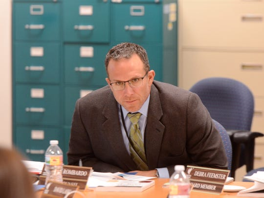 WCSD general counsel Neil Rombardo at a special work session of the board on Feb. 2, 2018.