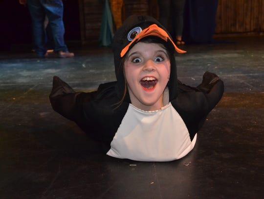 "Allie Rice as Kowalski The Penguin in ""Madagascar,"