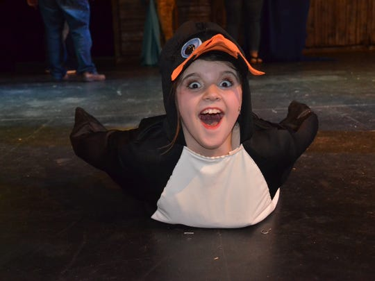 "Allie Rice as Kowalski The Penguin in ""Madagascar, Jr.."""