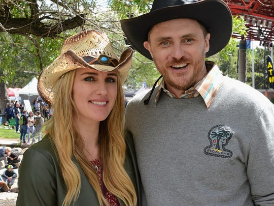 Andrea Cookson, 27, of San Francisco (left) and Damien