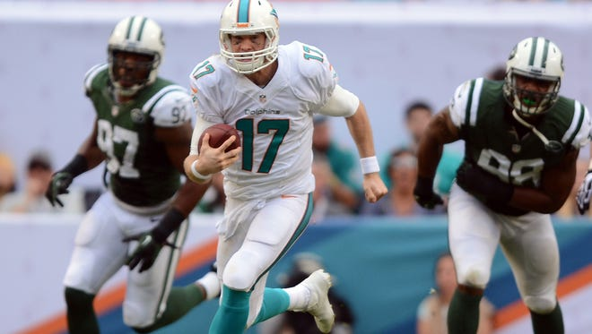 "QB Ryan Tannehill and the Dolphins will ""host"" the Jets in the first ever divisional matchup in London next year."