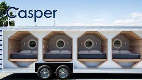 Casper mattress company takes nap truck to Nashville