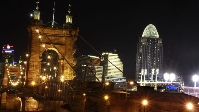 Downtown Cincinnati's skyline.