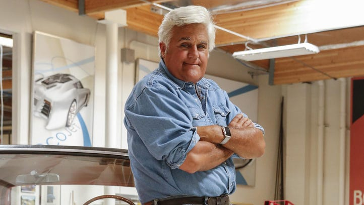 Jay Leno visits Detroit area to film for CNBC car show