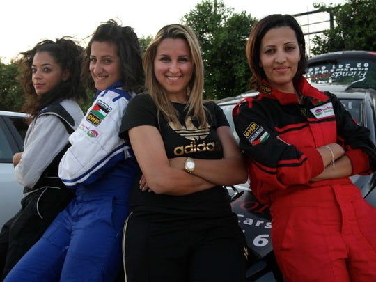 Noor Dauod, Marah Zahalka, Maysoon Jayyusi and Mona Ali — along with Betty Saadeh, not pictured — raced cars and shattered stereotypes.