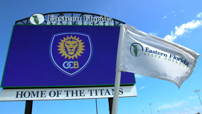 Officials from Orlando City soccer and Eastern Florida State College announce that Melbourne will be the home of OCB, Orlando City's USL team.