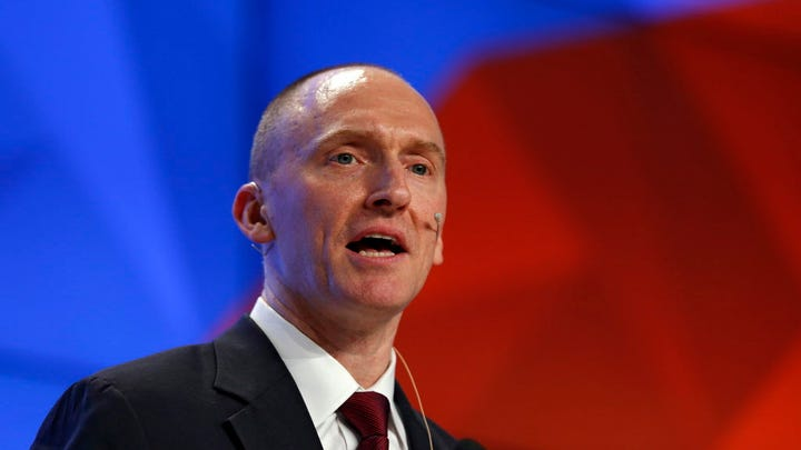 Carter Page, founder and managing partner of Global Energy Capital, delivers a speech in Moscow, Dec. 12, 2016.