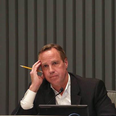Former Palm Springs mayor Steve Pougnet spent more than $33,000 on attorney's fees last year. The mayor appears to be at the center of a federal investigation into his relationships with local developers.