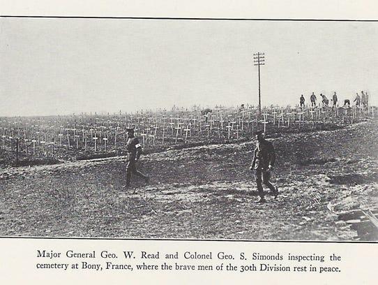 Maj. Gen. Geo. W. Read and Col. Geo. S. Simonds inspect