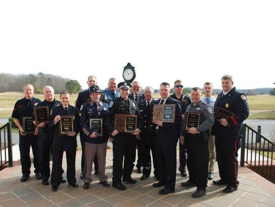 Recipients of the Freeman Valor Award 2018.