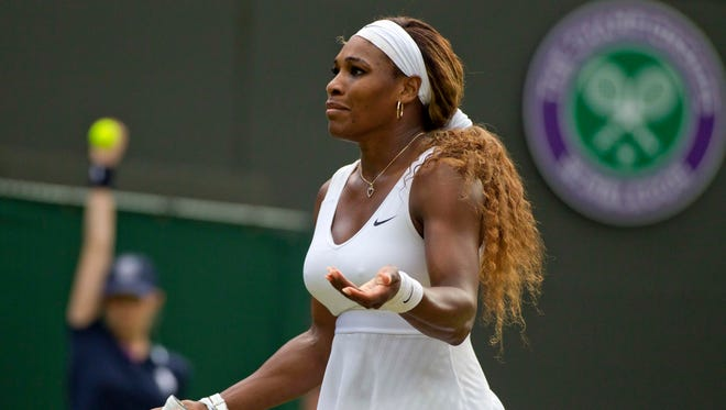 Top-seeded Serena Williams is out at Wimbledon.