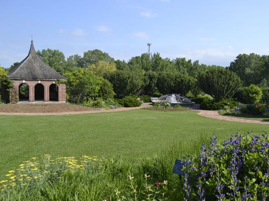 The upper garden at Green Bay Botanical Garden includes the Agnes Schneider Terrace, pictured. The small open area is where summer concerts are held on Thursday nights.