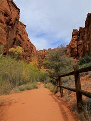 Johnson Canyon Trail in Snow Canyon State Park.