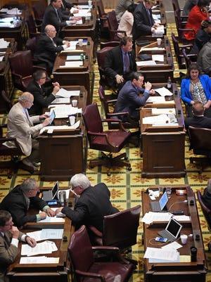 Legislators conduct business in the final days of the 2016 legislative session. Tuesday April 19, 2016, in Nashville, TN