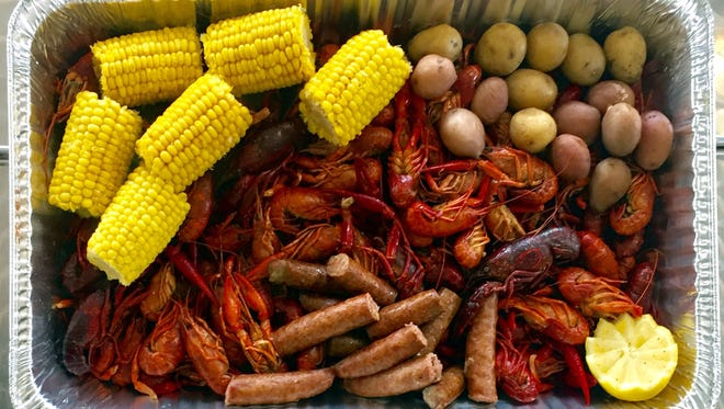 For a true soutnern boil, use true gulf shellfish with corn, red potatoes, and Conecuh sausage, an Alabama specialty.