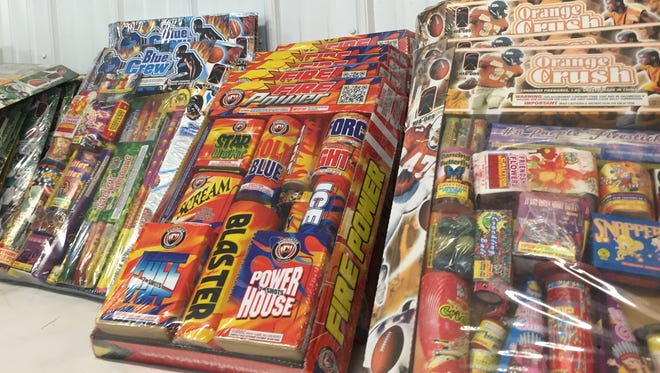 These packages of fireworks were on sale in 2016 at a business in South Lineville, Mo., along the Iowa-Missouri border