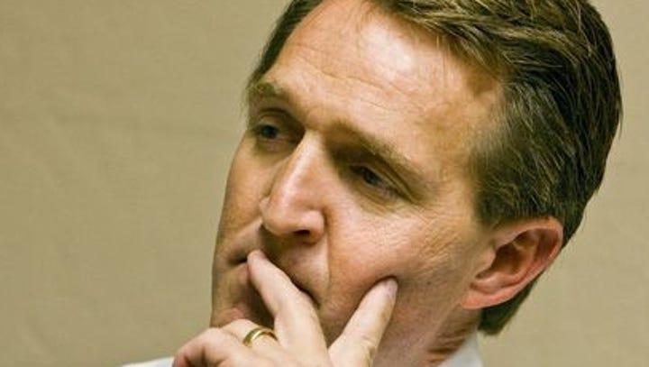 Sen. Jeff Flake throws Brett Kavanaugh's accuser under the bus