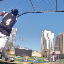 The Charlotte Knights step onto the field at BB&T Ballpark for the first time