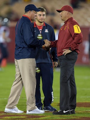 Can Rich Rodriguez's Wildcats top Clay Helton's Trojans?