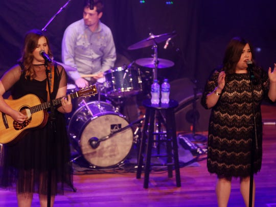 The Secret Sisters perform at the Ryman Auditorium