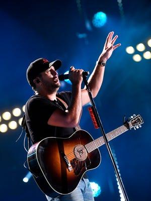 Luke Bryan performs at the 2018 CMA Music Festival on June 10, 2018, at Nissan Stadium in Nashville.
