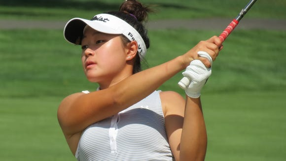 Edgewater's Kelly Sim rallied to shoot par during the first day of the U.S. Girls' Junior Championship.