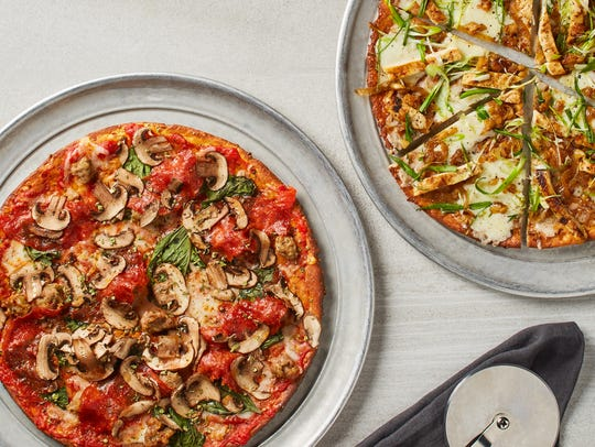 You can swap traditional crusts for cauliflower pizza