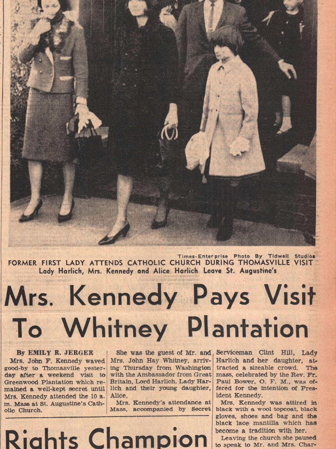 Jackie Kennedy found solace in Thomasville, Georgia