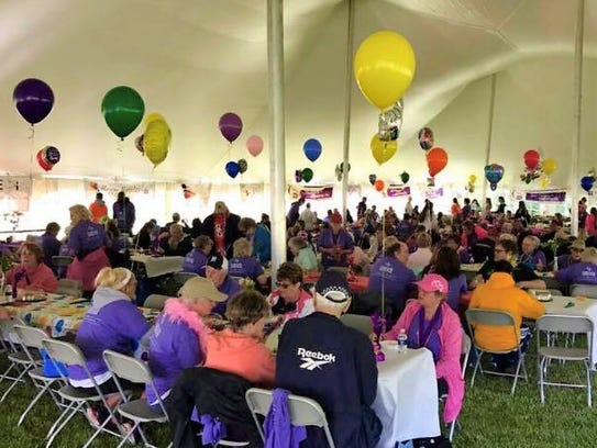 A luncheon for cancer survivors and their caregivers