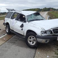 Two injured in southern Door County rollover