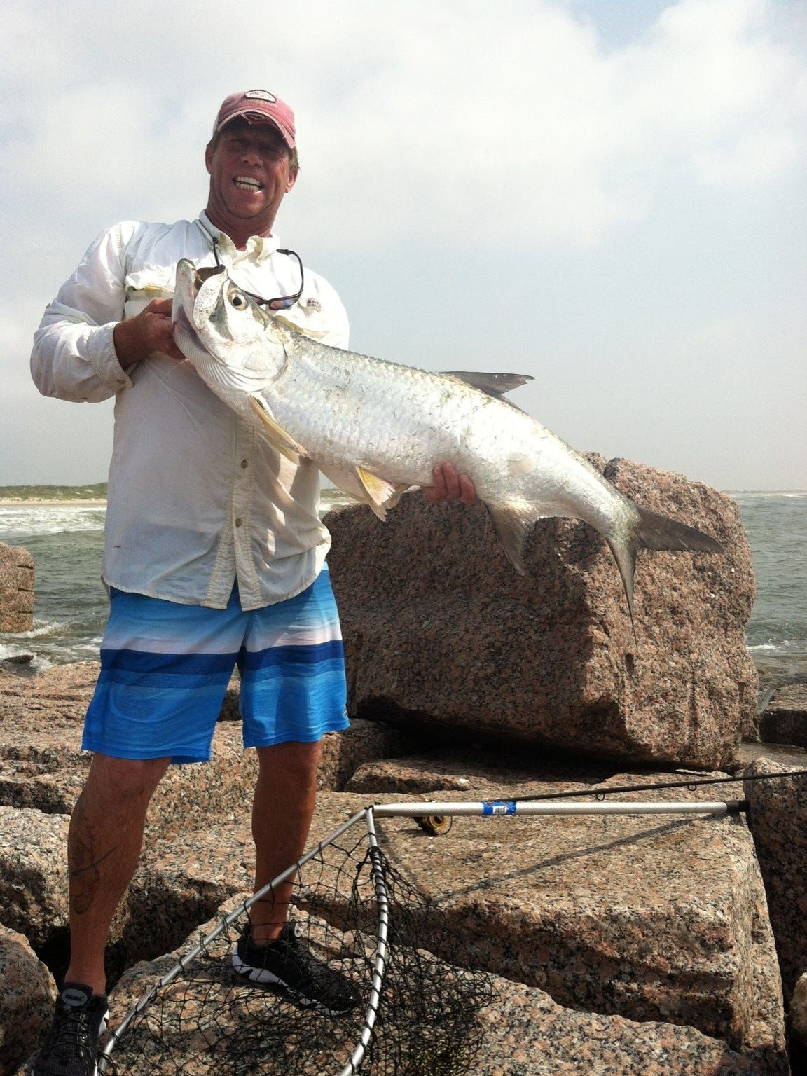 Tarpon are among the species caught from the Fish Pass