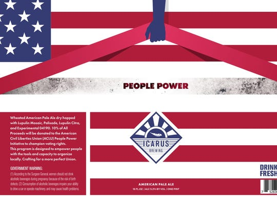 Icarus Brewing of Lakewood will release its People Power American pale ale to support the ACLU.