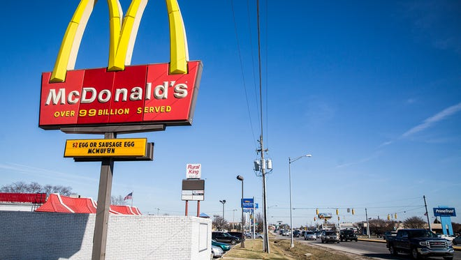 McDonald's will remove this pole sign at McGalliard Road near Chadam Lane when it  replaces the restaurant there.