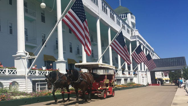 The Grand Hotel on Mackinac Island is photographed on July 19, 2016. It is the site of the annual Mackinac Policy Conference.