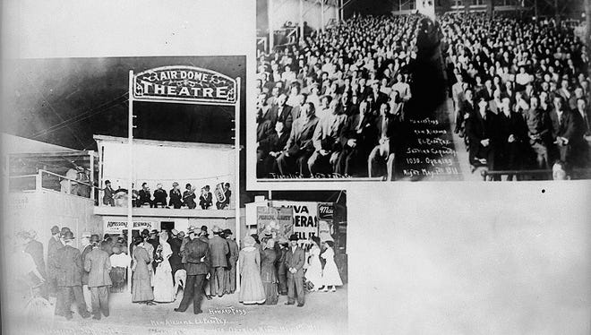 Airdome Theater 1911. The outdoor theater operated from 1906 to 1014.