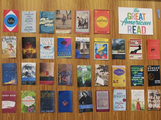 Book covers entice library visitors to take part in