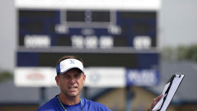 Steve Specht is starting his 12th year as St. Xavier head football coach.