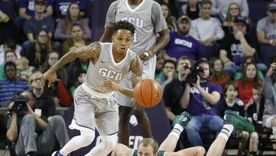 Grand Canyon senior point guard DeWayne Russell, the WAC's leading scorer, could be limited or not play at all this week with a hand injury