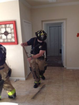 Water damaged a Rockledge apartment on Tuesday.