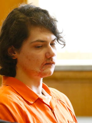 Miguel-Angel Oertel appears in Wood County court Monday Aug. 29 for a sentencing hearing in the shooting death of his ex-girlfriend's mother.