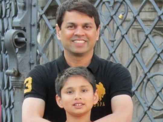 Mahesh Chitnis and his son, Ojas.