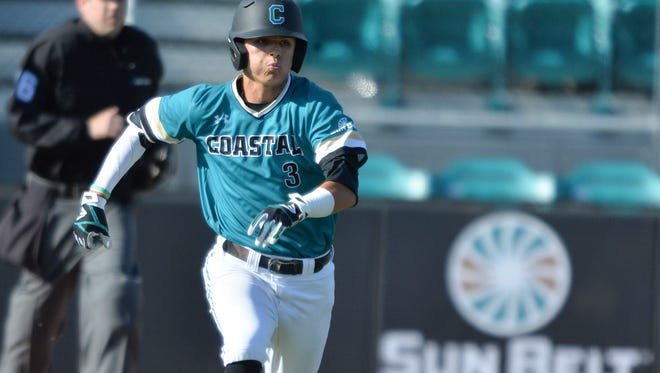 Coastal Carolina center fielder Parker Chavers was a three-time All-Metro selection at LAMP.
