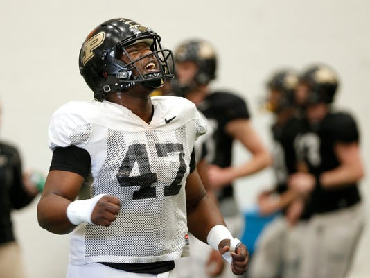LAF Purdue spring football Day 7