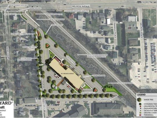 An overhead rendering of the proposed Courtyard by