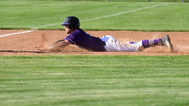 Noah Hotz stole five bases Monday for Fremont Ross.
