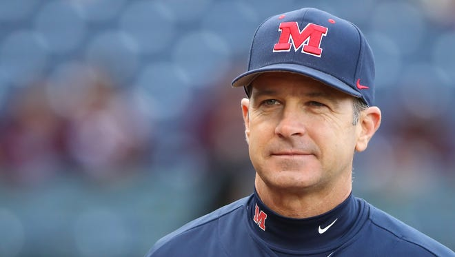 Ole Miss coach Mike Bianco's team will play 11 games on television this season.