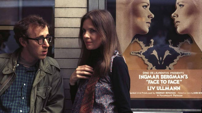 "Diane Keaton and Woody Allen in a scene from the 1977 film ""Annie Hall."""