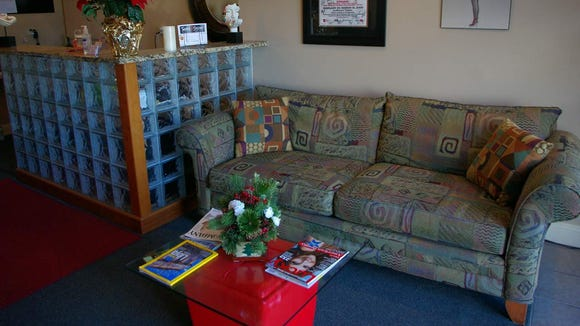 The very comfortable waiting area.